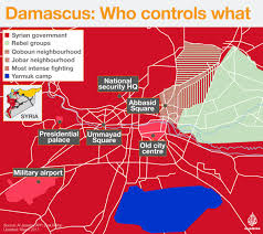 Damascus Syria Map by Damascus Who Controls What Al Jazeera