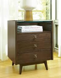 vintage glass top nightstand design featuring single bookshelf