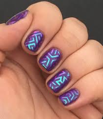 geometric nail art thermal color changing base with custom
