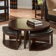 coffee table coffee table round withtools underneath thatlide