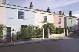 colourful terraced houses thanks to weathershield paint colours