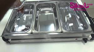 2 in 1 tray buffet 3 sections server u0026 warming tray by sumo youtube