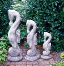 set of three seahorse ornaments