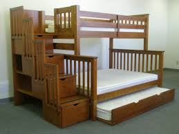 bunk beds twin over full stairway expresso trundle bunk bed