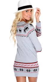 fair isle sweater dress grey fair isle knitted sweater dress