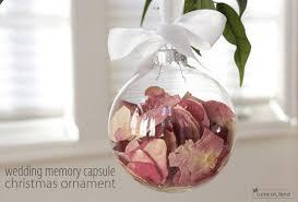 diy wedding keepsake ornament