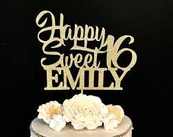 sweet 16 cake topper sweet 16 cake topper etsy