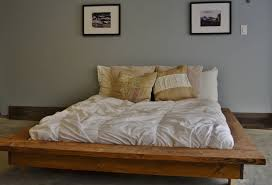 Wood Platform Bed Floating Rustic Wood Platform Bed Frame Quilmes