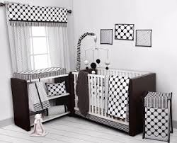 White Crib Set Bedding Dots Pin Stripes Black White 10 Pc Crib Set Including Bumper Pad