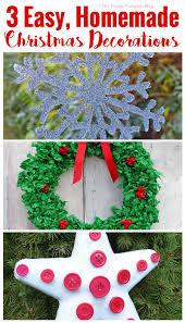 3 easy homemade christmas decorations