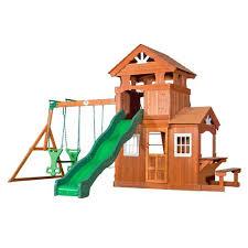 backyard discovery slide backyard discovery shenandoah wooden swing set academy