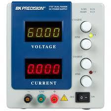 model 1737 dual range dc power supply 0 30v 0 3a or 0 60v 0 2a