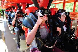 Six Flags In California Address Six Flags U0027 New Virtual Reality Ride Debuts