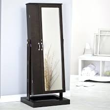 Armoire Office Desk by White Chifferobe Armoire Black Wooden Hanging Jewelry With Mirror
