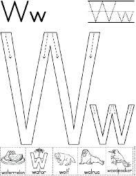 preschool letter w worksheets mediafoxstudio com