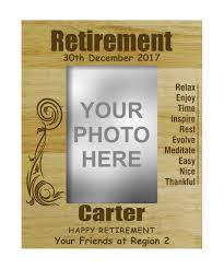 engraved wooden gifts engraved wood personalized retirement farewell gifts picture frame