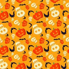 vector funny halloween pattern with skulls bats and pumpkins