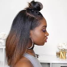 black hair buns for sale natural hair straight top knot by instagrammer youtuber janae
