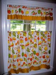 large lot vtg sears merry mushroom kitchen curtains set 4 curtain