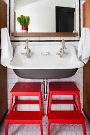 Double Trough Sink Bathroom Wall Mounted Trough Sink Foter