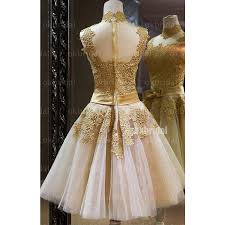 gold lace homecoming dresses tulle prom dress golden cocktail