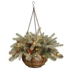 best hanging christmas baskets for porches with lights and timers