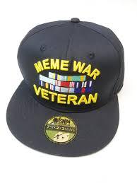Meme Snapback - meme war veteran hat snake hound machine