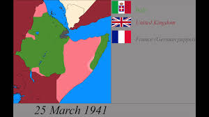 War World 2 Map by World War 2 In East Africa Every Day Youtube