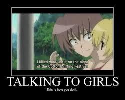 Anime Girl Meme - how to talk to girls anime pinterest anime anime meme and manga