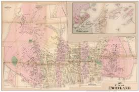 Map Of Portland Or by Old Maps Of Portland Maine