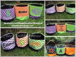 Halloween Buckets Personalized Halloween Bucket Bag By Sweet Southern Boutique