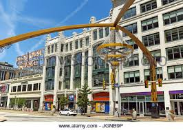 Cleveland Outdoor Chandelier Euclid Avenue In Downtown Cleveland Ohio Usa Stock Photo