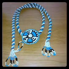 indian beaded necklace images Jewelry native american indian beaded tribal bolo tie poshmark jpg