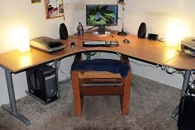 Wrap Around Computer Desk Modified Ikea Galant Desk Desks Desk Styling And Interiors