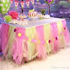 tulle decorations online cheap colorful wedding table tulle decorations 100cm 80cm