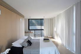 White Contemporary Curtains Luff Residence Designed By Pohio Adams Architects Keribrownhomes
