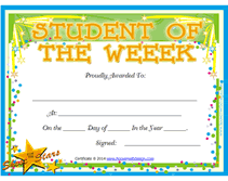 Student Of The Week Certificate Template printable student of the week awards school certificates templates