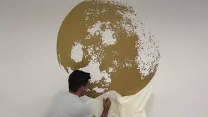 moon wall sticker golden for housewares how to apply youtube moon wall sticker golden for housewares how to apply