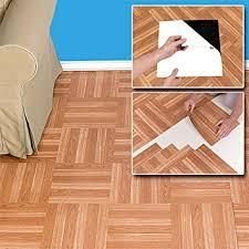 peel n stick self adhesive wood floor tiles vinyl floor