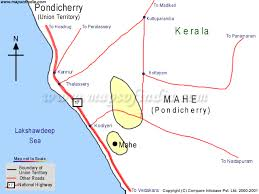 map of the road puducherry road map