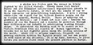 Iron Curtain Speech The National Archives Learning Curve Cold War
