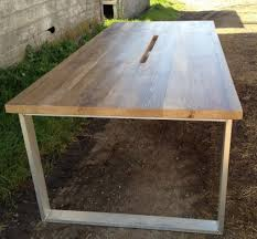 Oak Meeting Table Reclaimed Wood Tables Dining Conference Community San