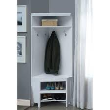 coat rack bench wooden tree entryway seat storage shelves