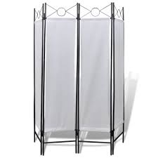 4 panel room divider privacy folding screen white 5 u0027 3
