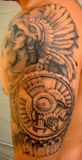 guys calf tattoos mexican style tattoos mexican tattoo aztec and tattoo