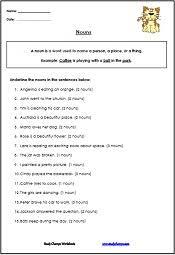 noun worksheets studychamps