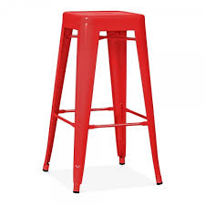Red Metal Chair Red Powder Coated 75cm Tolix Style Stool Industrial Stools Cult Uk