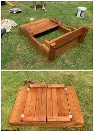 Backyard Sandbox Ideas with Diy Sandbox Projects Picture Instructions