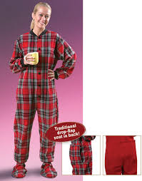 flannel footed pajamas plaid at catalog classics vh3362