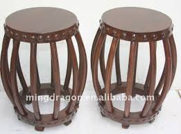 chinese antique wood drum stool chinese antique wood drum stool